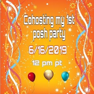 Cohosting my 1st posh party.🎉🎈